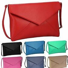 Large Flap Envelope Style Clutch Bag Ladies Handbag Shoulder BNWT