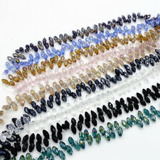 25pcs 6x12mm #6010 Faceted Crystal Glass Teardrop Beads Finding Pendants DIY