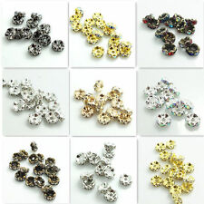 Wholesale 100pcs Czech Crystal Rhinestone Rondelle Spacer Beads 4/5/6/7/8/10mm