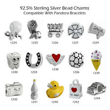 925 Sterling Silver Bead Charms for European Charm Bracelet Necklace 22-1244