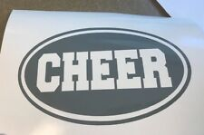 Cheer Oval Vinyl Decal Sticker for Car Laptop Wall Cheerleading Cheerleader