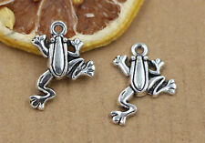 10/40/150pcs wholesale Tibet silver frog charm pendant jewelry  23 x18mm