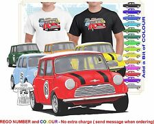 CLASSIC 69-80 MINI COOPERS RACING ILLUSTRATED T-SHIRT MUSCLE RETRO SPORTS CAR