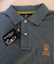Psycho Bunny Polo Green Gold Mens Sz 3 5 XS M SS Robert Godley Pima Cotton NWT