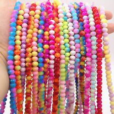 Wholesale 40pcs 8mm Faceted Rondelle Charms Glass Loose Spacer Beads DIY