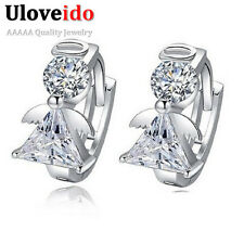 Uloveido Angel Stud Earring Earings Fashion 925 Sterling Silver Crystal Earri...