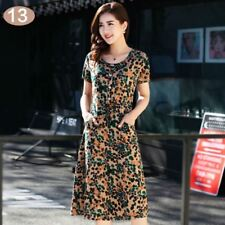 Casual Vintage Fashion Party Wear Printed Pattern Cotton Dress For Women