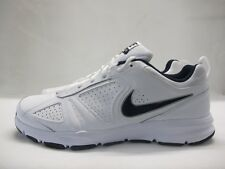 Mens Nike T-Lite XI Running Sport Shoes White Navy Lace Up Leather Trainers