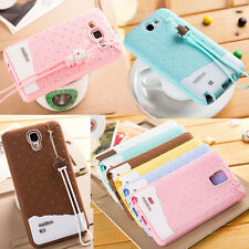 Fashion Rabbit Rope Candy Silicone Rubber Case Soft Cover For Samsung Galaxy