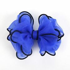 Women 5 Inch Fashion Cotton Polyester Fabric Hair Clip ABB2507