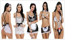 Sexy Women's French Maid Babydoll Lingerie Valentine Costume Cosplay Fancy Dress