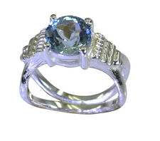 Blue Topaz 925 Sterling Ring L-1in likely Blue wholesale AU K,M,O,Q