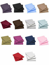 100% EGYPTIAN COTTON FITTED FLAT SHEETS 200 THREAD COUNT SINGLE DOUBLE KING.
