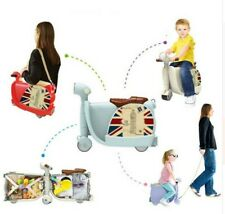 Motorcycle Rolling Suitcase Ride-on Children Travel Plane Luggage Birthday Gift