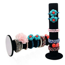 Vertical T-Bar Rack Bracelet Bangle Stand Organizer Holder Display Velvet