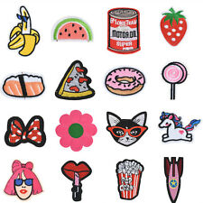 Embroidered Sew Iron On Patches Badge Fabric Bag Clothe Applique Craft wholesale