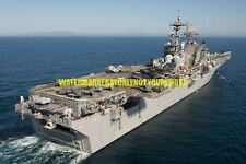 Amphibious Assault Ship USS Makin Island LHD 8 Color Photo Military USN LHD-8
