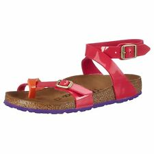 Birkenstock Yara Tropical Orange Pink Womens Birko-Flor Thong Narrow Sandals