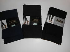 Womens Tights Luxe Fleece Lined Footed or Footless Various Colors and Sizes NWT
