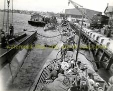 German Navy U-Boat Surrender Black n White Photo Submarine  WWII 1945 Military