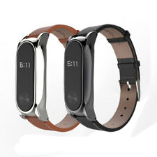 New Adjustable Leather Strap Wrist Band Screwless Bracelet for Xiaomi Mi Band 2