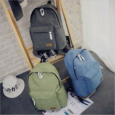 Women Canvas Backpacks Ladies Shoulder Girls School Bag Rucksack