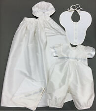 Baby Beau and Belle Cameron boys christening baptism silk convertible gown set