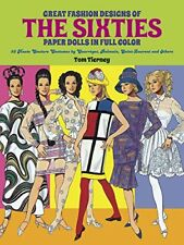 TOM TIERNEY - Great Fashion Designs of the Sixties Paper Dolls: ** Brand New **