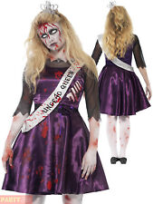 Girls Teen Zombie Prom Queen Costume Gothic Halloween Fancy Dress Outfit