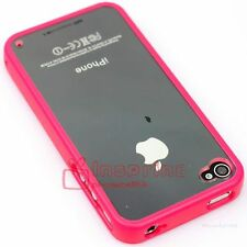 New Bumper Silicone Rubber Case Snap-On Cover for Apple iPhone 4 4S