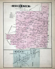 1877 Map of Ashland Township Clarion County Pennsylvania Oil Wells