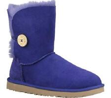 UGG AUSTRALIA WOMENS BOOTS CLASSIC SHORT BAILEY BUTTON ROYAL BLUE SIZE 7 8 NEW