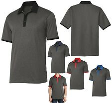 MEN'S RINGER STYLE POLO SHIRT, SHORT SLEEVE, WICKING / SNAG RESISTANT, XS-4XL