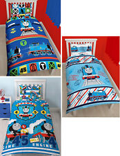 Thomas The Tank Engine Kids Single Duvet Quilt Cover Bedding Set - 2 Choices