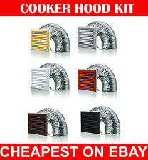 "Cooker Hood Kit,Kitchen,Ducting,Extractor Fan,Ventilation 4"" 5"" 6"" 100 125 150mm"