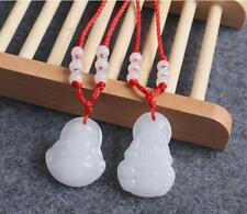 Natural  Jade Jadeite Kwan-yin Buddhism Pendant Necklace hand-carved