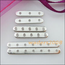 New Connectors Flat Spacer Bars Silver Plated 3-Strand 5-Strand 7-Strand Finding