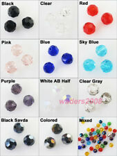 New Charms Faceted Round Ball Glass Crystal Rondelle Spacer Beads 4mm 6mm 8mm