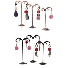 3Pcs Metal Jewelry Dangle Earring Navel Ring Tree-Shape Display Stand Holder