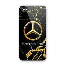 Mercedes Gold Marble Luxury Print On Hard Plastic Case For iPhone 6 6s 7 (Plus)