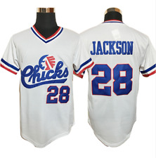 Baseball Jersey #28 Bo Jackson Chicks Baseball Jersey White Movie Jersey America