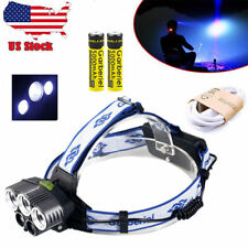 50000LM Tactical 5 x XM-L T6 LED Rechargeable 18650 USB Headlamp Head Light Lamp