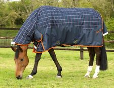 Mark Todd MEDIUMWEIGHT COMBO TURNOUT RUG *New Style* 250g 600d Navy 5'6''-7'0''