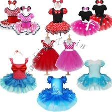 Girl Kid Minnie Mouse Fancy Tutu Dress Up Costume Cosplay Tutu Skirt Outfits Set