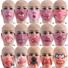 Latex Mask Halloween Scary Festival Mask Halloween Costume Theater Prop Toy CL