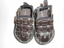 Faded Glory Closed Toe Sandals Brown Casual Infant Toddler Boys Various Sizes