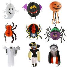 Novelty Cute Paper Hanging Ghost Spider Pumpkin Witch Halloween Party Decoration