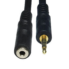 3.5mm gold plated Male to female Stereo Jack Plug Audio Extension 1m 1.5m 2m Aux
