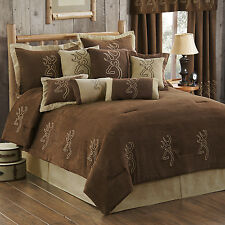 Browning Suede Comforter Set with Sheet and Curtain Option~~ FREE SHIP