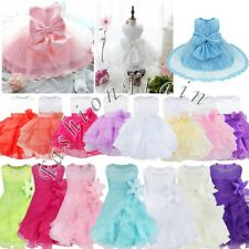 Flower Girl Baby Kids Princess Wedding Birthday Party Prom Bridesmaid Tutu Dress